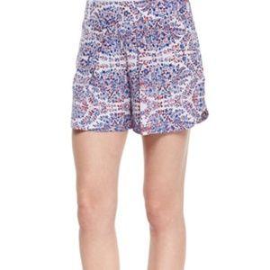Rebecca Taylor Shorts - Rebecca Taylor Relaxed Paisley Print Silk Shorts